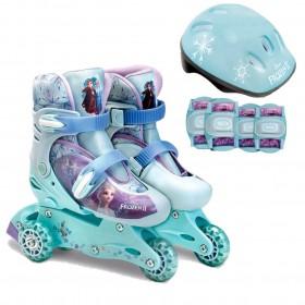 Patins Frozen 3 rodas Ajustável 29 ao 32 e Acessórios F00170 - FUN