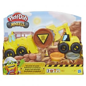 Play Doh Wheels Escavadeira e Carregadeira E4294 - Hasbro
