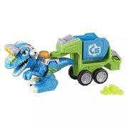 Dinossauro Chomp Squad Dino Trailer Raptor - Hasbro