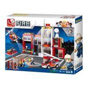 Sluban Fire Station M38-B0631 612 Peças - Blocos de Montar Quartel do Corpo de bombeiros - Sluban