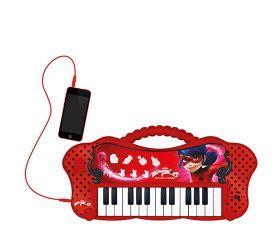 Teclado infantil da Ladybug - Eletrônico com Entrada para MP3 - Fun