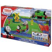 Thomas e Amigos Ferrovia Motorizada Percy e Moinho - Mattel