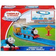 Thomas e Amigos Ferrovia Motorizada Um Dia com Thomas - Mattel