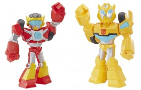 Transformers Rescue Bots Bumblebee  + Hot Shot Mega Mighties E4131 - Hasbro
