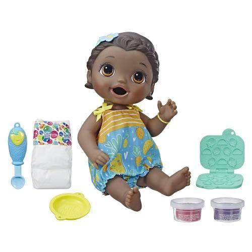 Boneca Baby Alive Lanchinho Divertido Negra E5839 - Hasbro