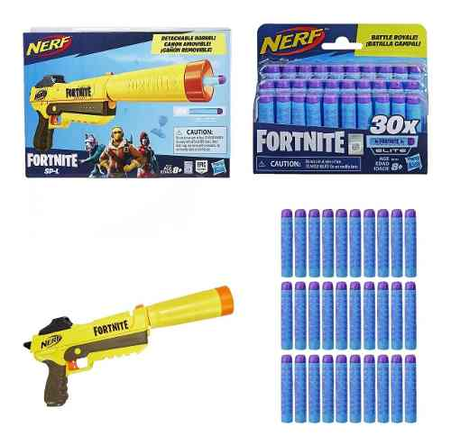 Pack Nerf Fortnite Spl Sneaky Spring Fall + Refil 30 Dardos Elite fortnite - Hasbro