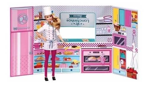 Barbie - Massinha food Truck Lanchinhos e Sucos Divertidos 7968-2 - Fun