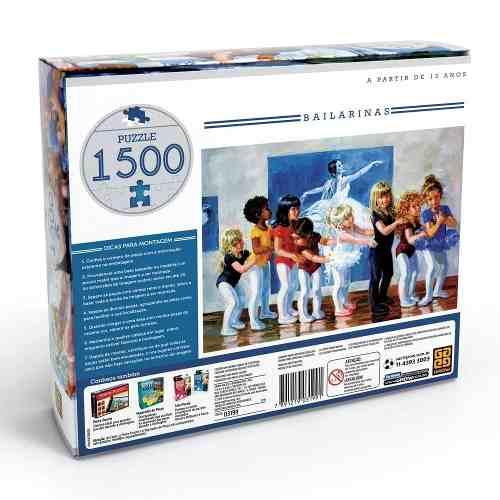 Puzzle 1500 Peças Bailarinas Grow - Quebra Cabeça Grow