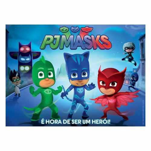 Puzzle Pj Masks 60 Peças Grow Puzzle Infantil Peças Grandes