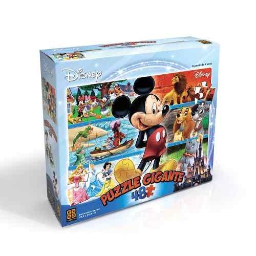 Puzzle Gigante Disney 48 Peças Grow Quebra Cabeça Mickey