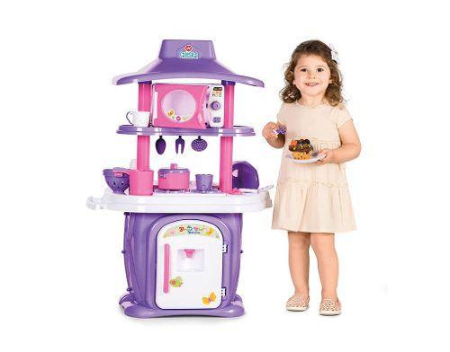 Cozinha Infantil Calesita Le Grand Chef com Acessórios e 2 Lados para brincar  - Ref 1310