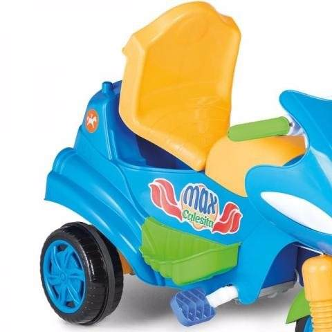 Max Calesita Azul - Carrinho De Passeio Com Alça de Proteção