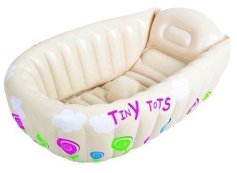 Banheira Infantil Portatil Inflavel Tiny Tots Bege - Mor