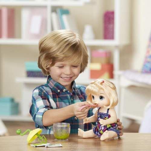 Boneca Baby Alive Papinha Divertida Loira Hasbro Lançamento