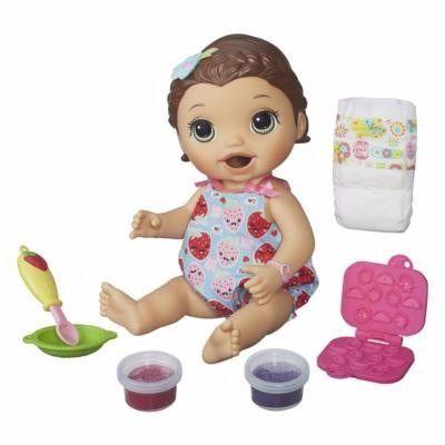 Boneca Baby Alive Lanchinho Divertido Hasbro Morena