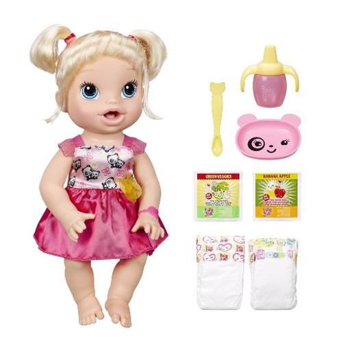 1998161a6 Boneca Baby Alive Hora De Comer Loira Hasbro Troca Fralda - Pikoka ...