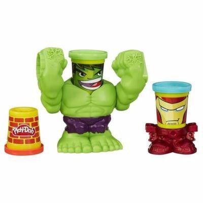 Conjunto Playdoh Marvel Pote Hulk Esmaga - Hasbro