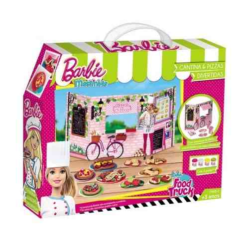 Barbie Massinha De Modelar Cantina E Pizzas Food Truck
