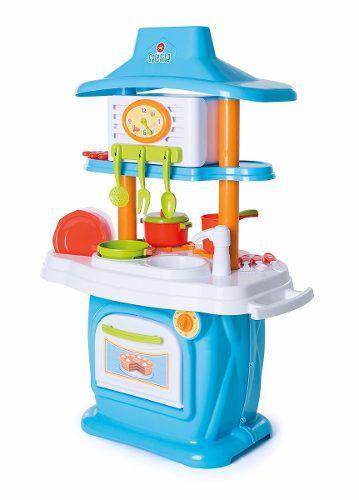 Cozinha Infantil Calesita Le Grand Chef Junior com Acessórios e 2 Lados Para Brincar - Ref 1311