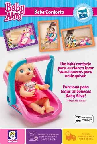 Bebe Conforto Baby Alive Para Bonecas - Licenciado Hasbro