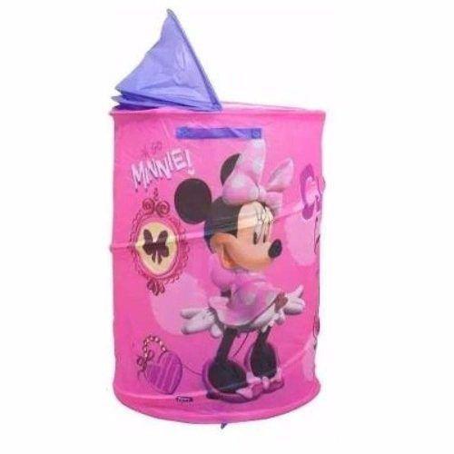 Porta Objeto Portatil Cesto Roupa Suja Minnie Disney - Zippy Toys