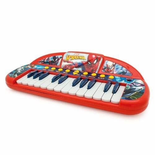 Teclado Musical Infantil Homem Aranha Toyng 030513