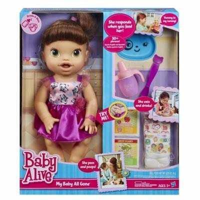 ba218a31ff Boneca Baby Alive Hora De Comer Morena Hasbro Troca Fralda