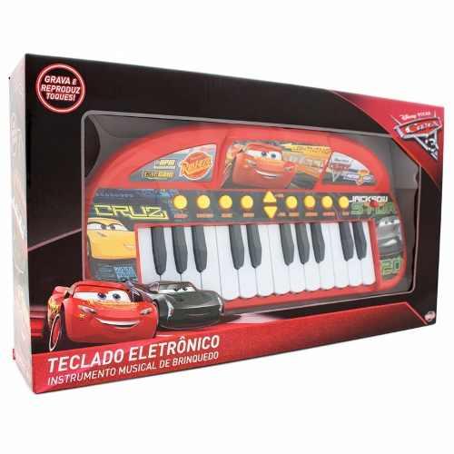 Teclado Infantil Carros 3 Disney Eletronico Toyng Ref 30590