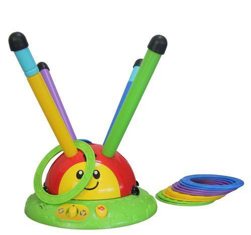 Brinquedo Infantil Acerta E Pula - 2 Em 1 Beeme 2077 Argolas