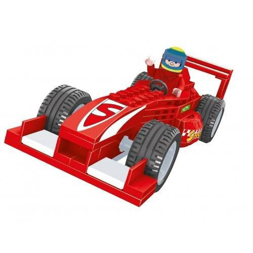 Senninha Carro Formula 1 Carrinho Do Senninha 88 Peças 2732