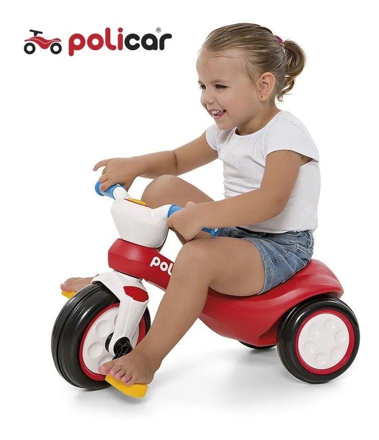 Andador Infantil com Pedal Policiclo Vermelho 7515 - Poliplac