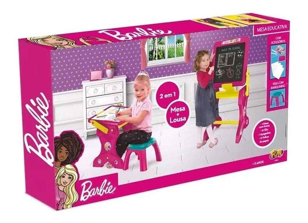 Barbie - Mesinha Infantil da Barbie Lousa da Pequena Artista 2 em 1 - Fun 84284