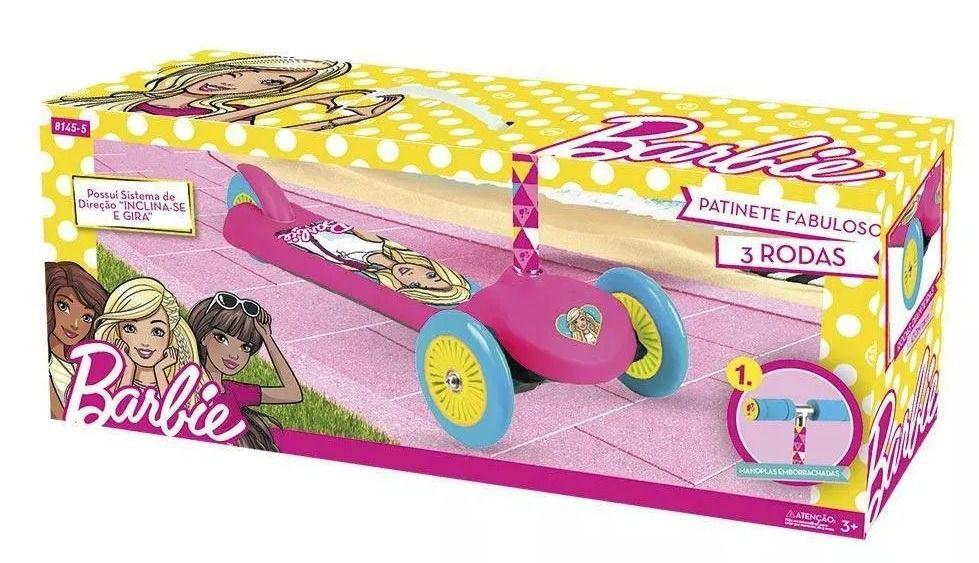 Barbie - Patinete Infantil Fabuloso da Barbie com 3 rodas - Fun