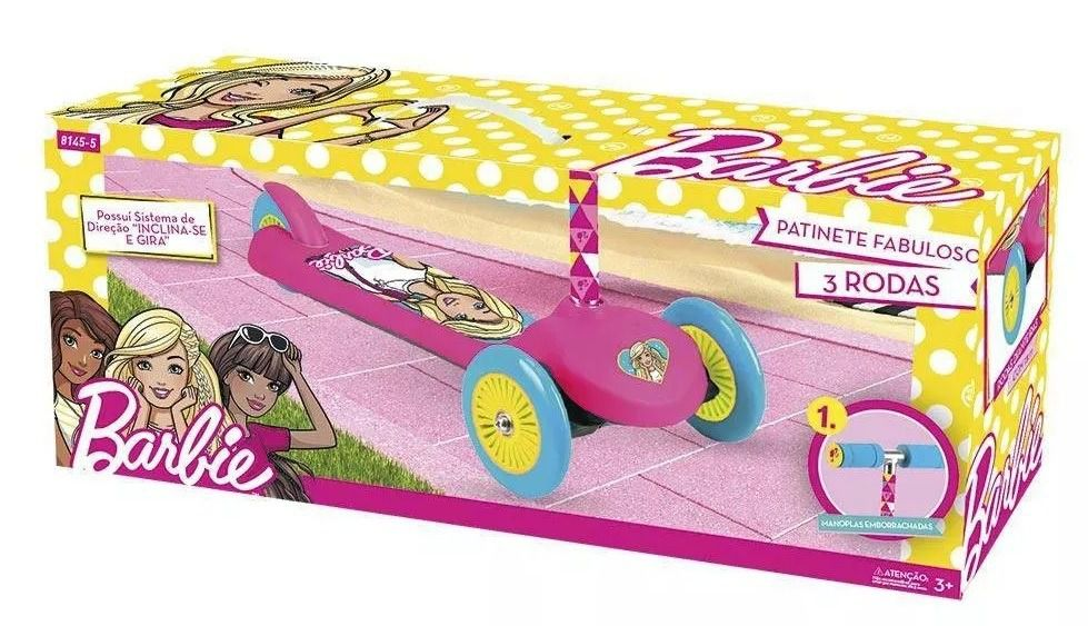 Barbie - Patinete Infantil Fabuloso da Barbie com 3 rodas - Fun