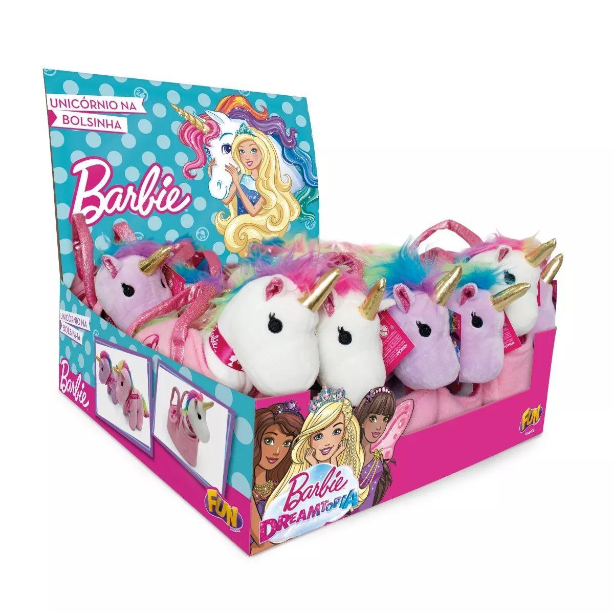 Barbie Unicórnio Na Bolsinha Pelúcia Escolha o Seu - Fun