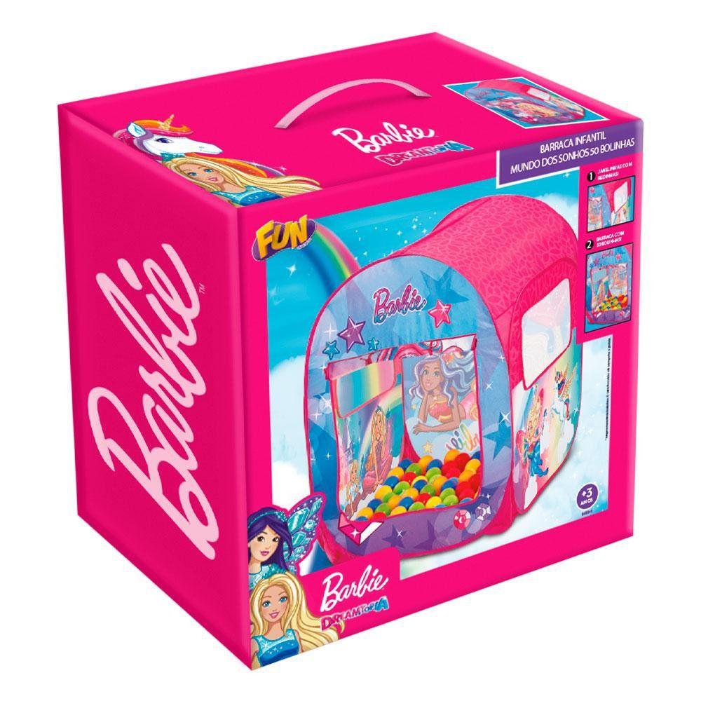 Barraca Infantil da Barbie Com 50 Bolinhas F00068 - FUN