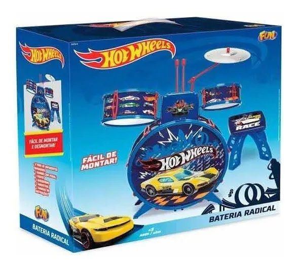 Bateria Infantil Hot Wheels F00057 - FUN