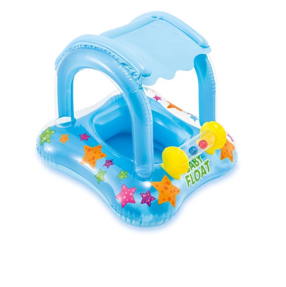 Boia Inflável Baby Bote Kiddie com Cobertura - Intex
