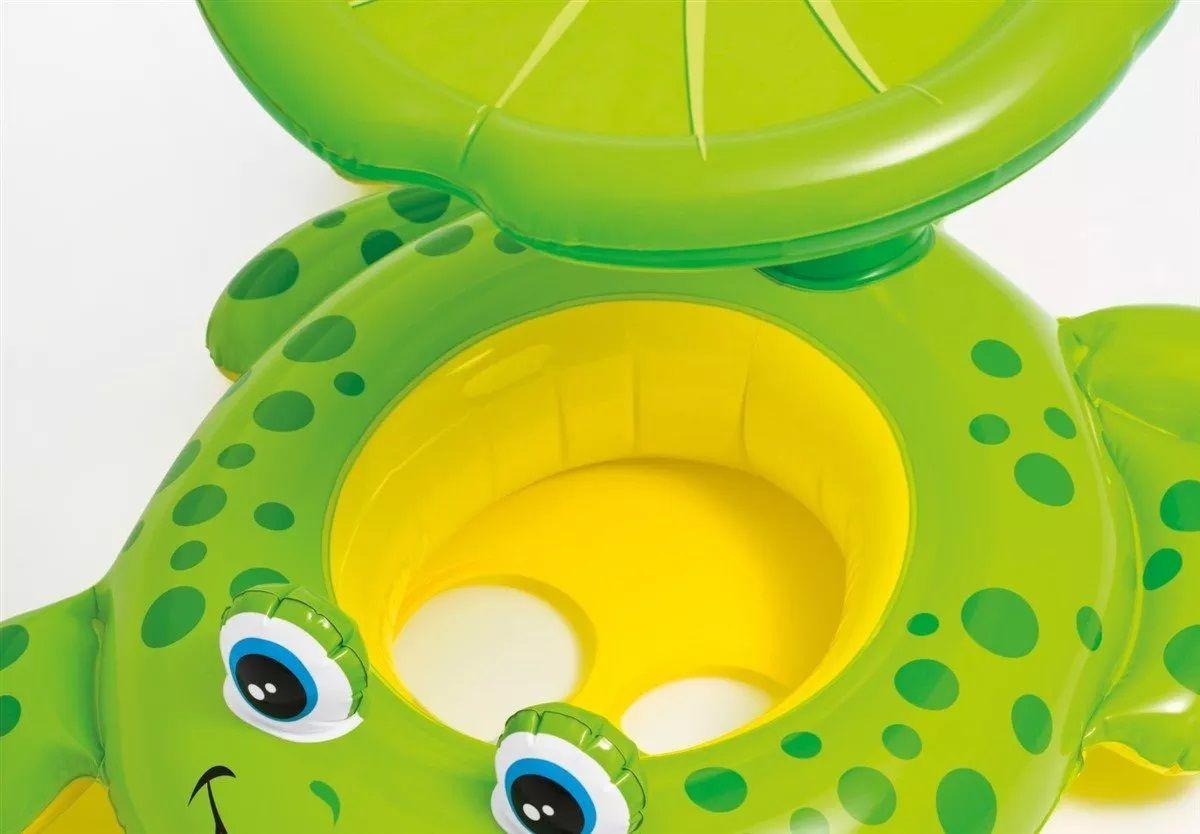 Boia Inflável Baby Bote Sapinho Com Cobertura - Intex