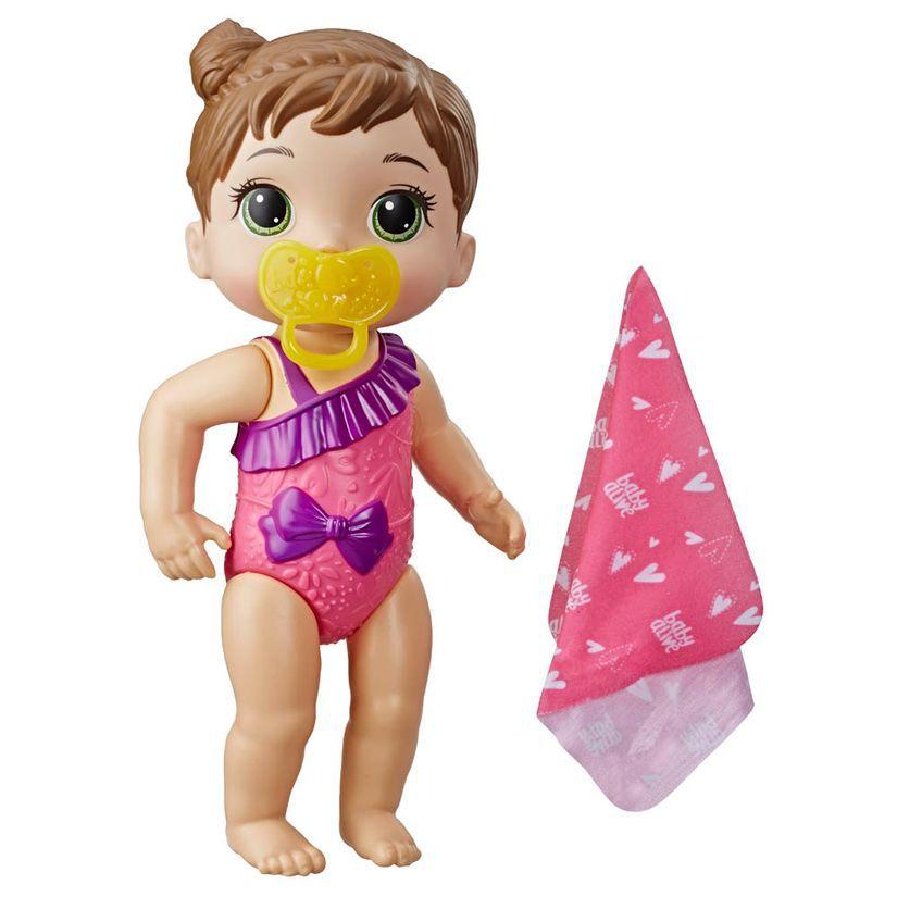 Boneca Baby Alive Bebê Banhos Carinhosos Morena E8722 - Hasbro E8716