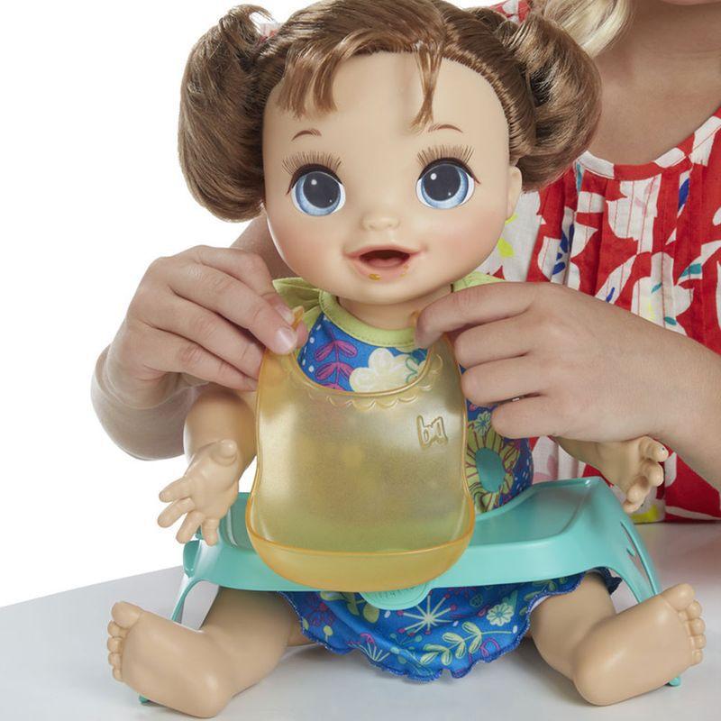 Boneca Baby Alive Bebe Faminta Morena - Comilona Comidinha Feliz E4895 - Hasbro