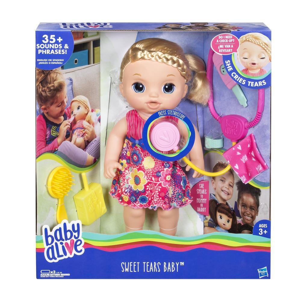 Boneca Baby Alive Doces Lagrimas Loira C0957 - Hasbro