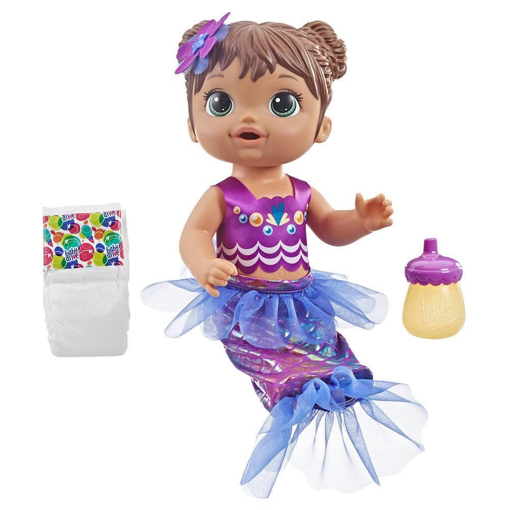 17a70e9c3b Boneca Baby Alive Linda Sereia Morena E3691 - Hasbro