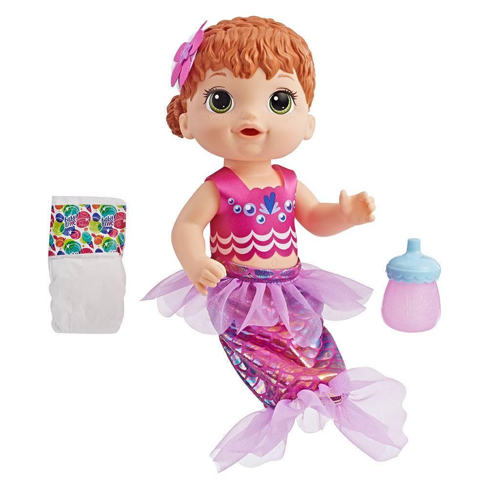 Boneca Baby Alive Linda Sereia Ruiva E4410 - Hasbro