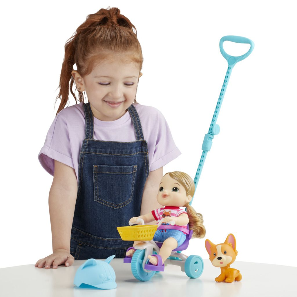 Boneca Baby Alive Little Com Velotrol E7410 - Hasbro