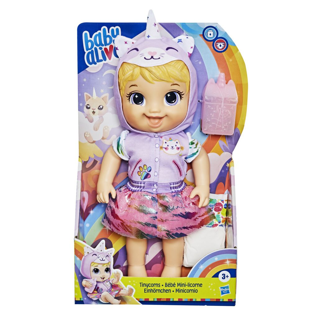 Boneca Baby Alive Unicornio Tynicorn Gatinha Loira E9423 - Hasbro