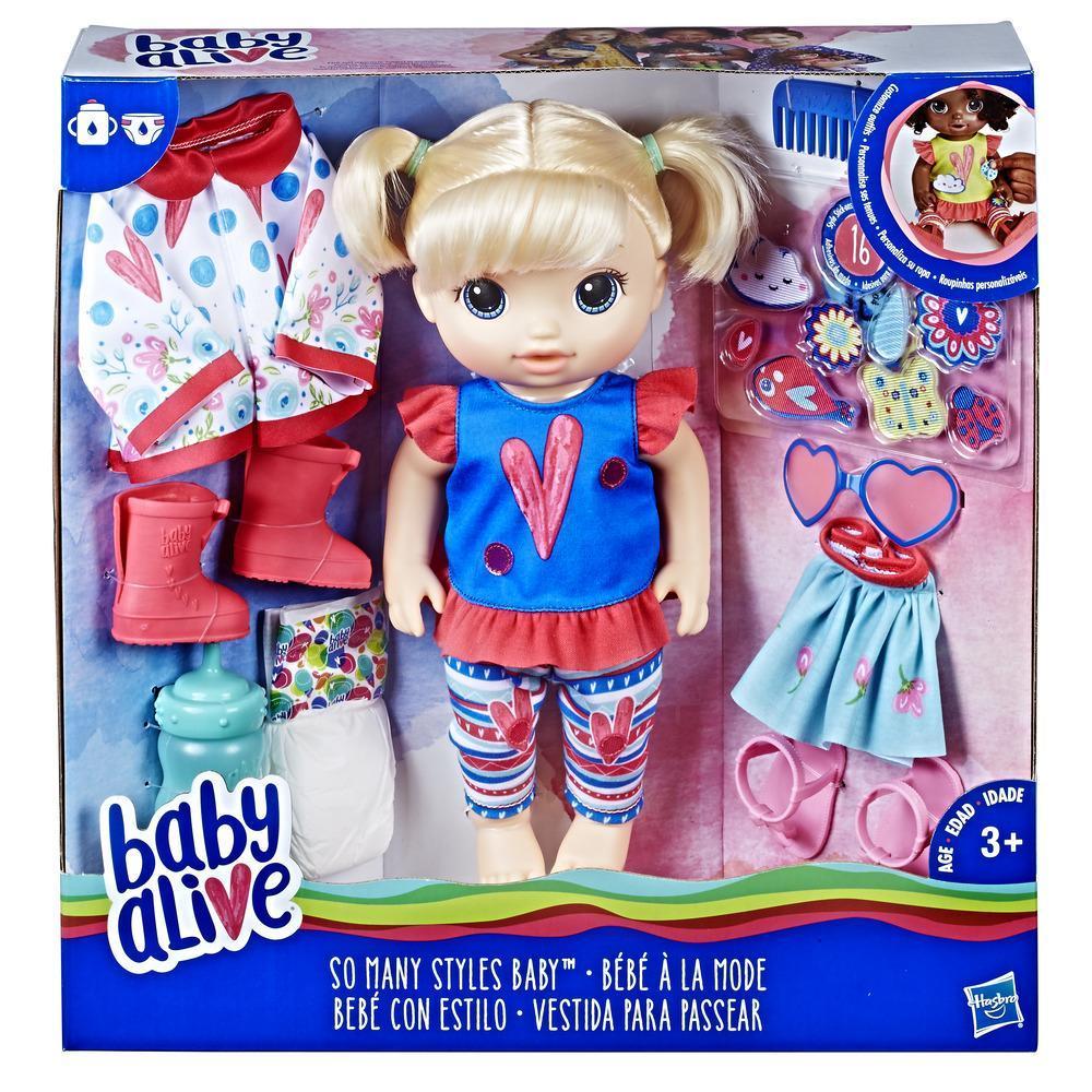 Boneca Baby Alive Vestida para Passear Loira E2101 - Hasbro