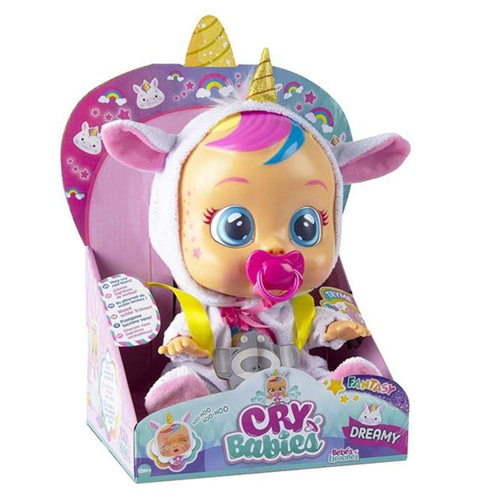 Boneca Crybabies Dreamy Unicornio BR1029 - Multikids