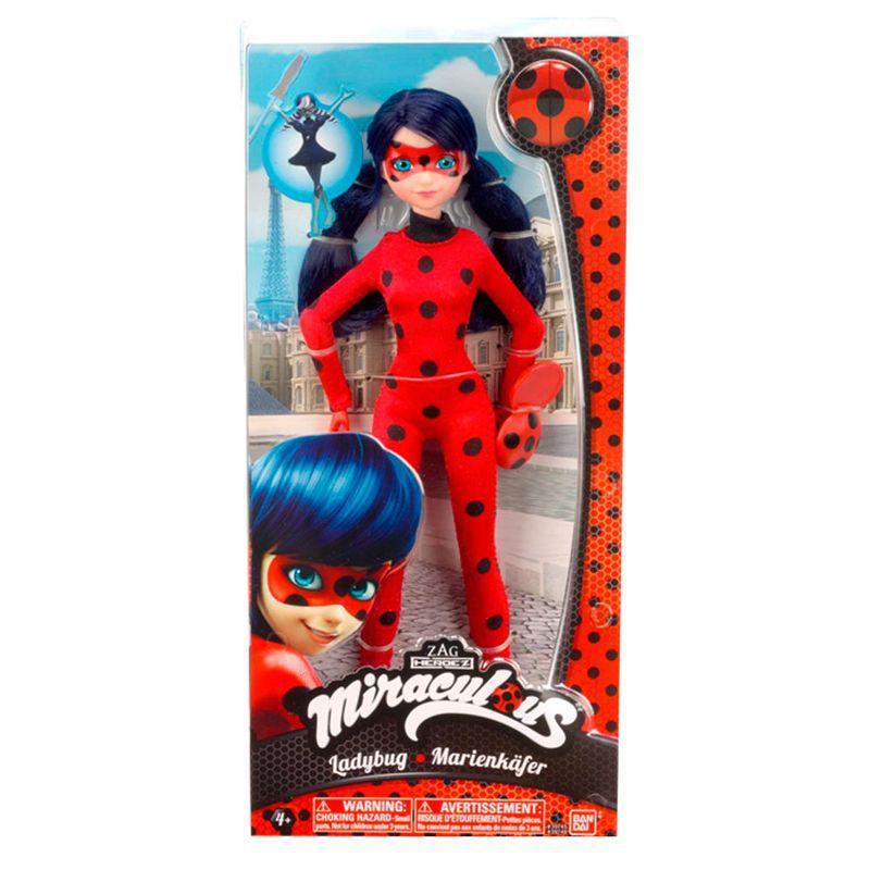 Boneca Ladybug + Cat Noir + Antibug  - 26cm - Sunny