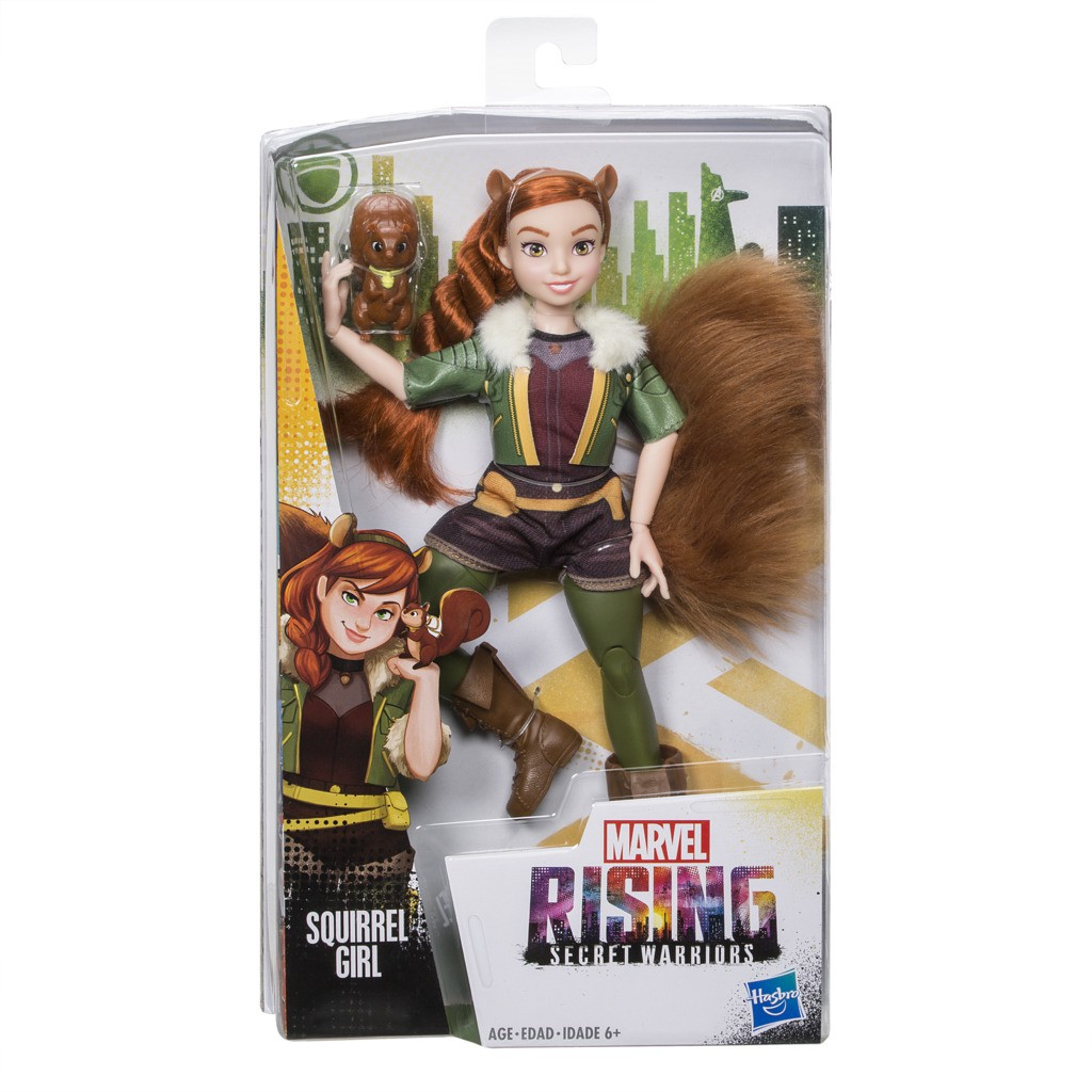 Boneca Marvel Rising 25 Cm Garota Esquilo Secret Warriors E2718 E2701 - Hasbro